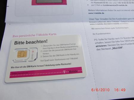 T-Mobile Dreifach SIM