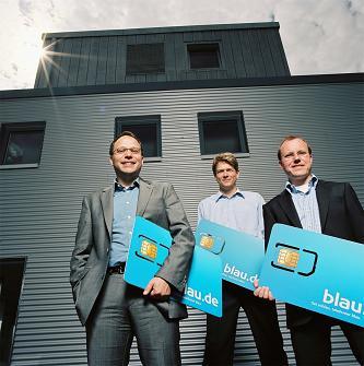 Die drei Gründer von Blau