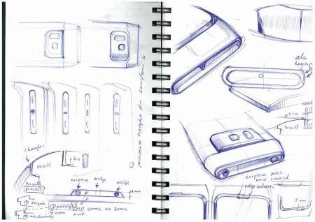 Design Skizze vom Nokia N8
