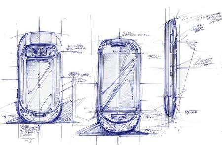 Designer Zeichnung vom Nokia C7