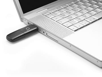 Laptop mit o2 Surfstick