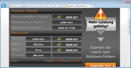 Telekom bietet die geringsten Pingzeiten und ist fast so schnell wie o2