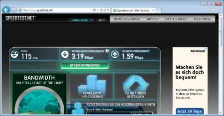 o2 via speedtest.net
