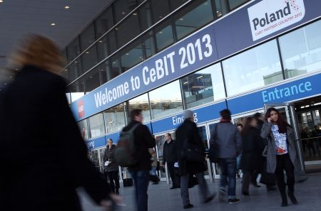 Messeeingang Nord CeBIT 2013, Quelle: Messe Hannover