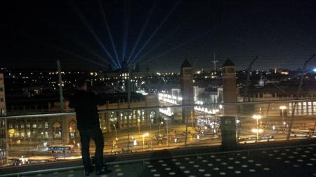 Barcelona 2015 vom Dach der Stierkampfarena