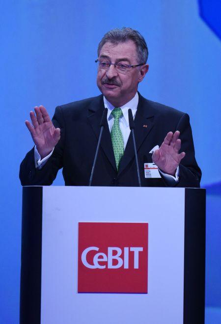 CeBIT 2015,Eröffnung am 15. März 2015, Präsident des BITKOM Prof. Dieter Kempf