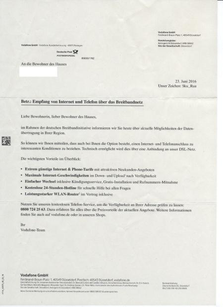Post von der deutschen Breitbandinitiative?